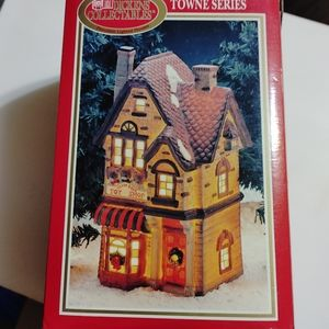 Dickens Collectibles Towne Series Teddy Bear Shop